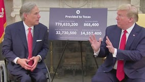 Gov. Greg Abbott meets with President Trump over Texas' efforts to reopen economy during COVID-19 outbreak