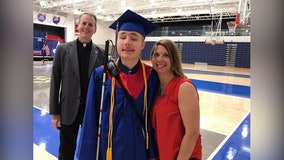 Blind high school senior graduates as valedictorian, receives scholarship to university