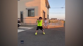 Adorable Japanese siblings' video captures attention of tennis world
