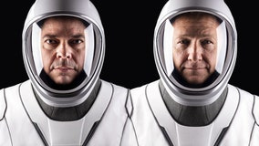 Who are the astronauts embarking on the first manned mission into space in nearly ten years?