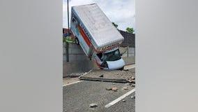 Oops! U-Haul driver crashes on Beltway ramp
