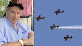 WWII veteran gets special flyover after dying alone in his nursing home during lockdown