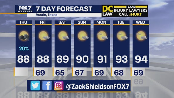 Noon weather forecast for May 28, 2020
