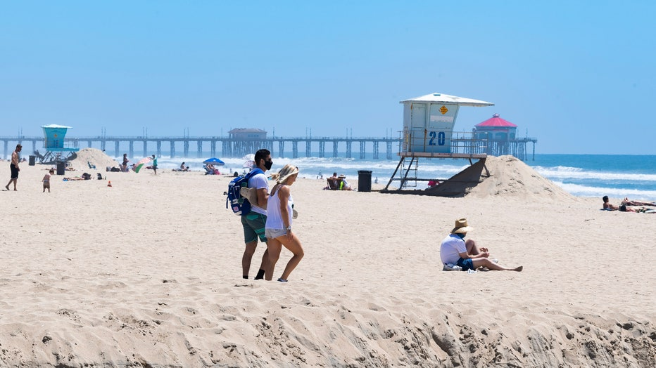 Some California beaches remain open during COVID-19 pandemic