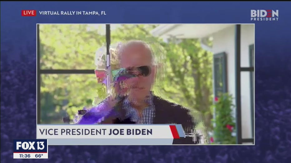 biden virtual rally