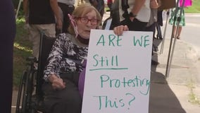 99-year-old in Westlake organizes protest against police brutality with her nursing home's help