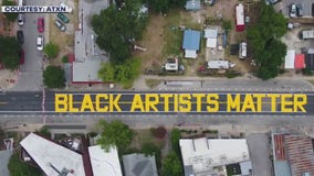 """Black Artists Matter"" mural painted on the east side"