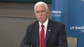 VP Mike Pence, Gov. Abbott discuss COVID-19 in Dallas