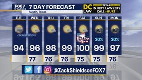 Noon weather forecast for June 30, 2020