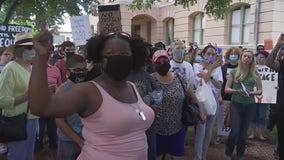 Protesters around Georgetown Square joined by county, city leaders