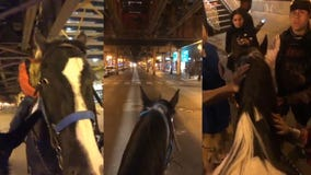Man rides through Chicago on horseback to spread positivity and 'keep the peace' amid protests