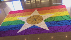 Dallas unveils new flag that will fly for Pride Month