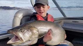 10-year-old fisherman in Utah reels in massive catch
