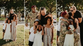 Soldier returns to Tampa in time for Father's Day, surprises kids with heartwarming photobomb