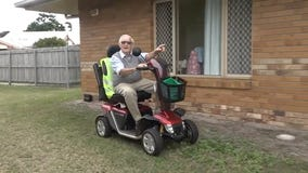 'She means everything to me': Man visits wife, who has dementia, daily on his mobility scooter