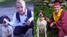 'He was always there with us': Family recreates photo with dog from first grade to graduation
