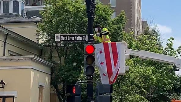 DC street near White House renamed 'Black Lives Matter Plaza'