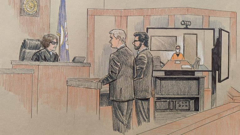 derek chauvin court appearance court sketch