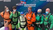 103-year-old Georgetown man makes world record qualifying tandem skydiving jump
