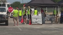 Central Texas Food Bank distributes in Kyle Saturday