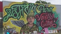 """""""Justice for Vanessa Guillen"""" mural in southeast Austin honors U.S. Army specialist"""