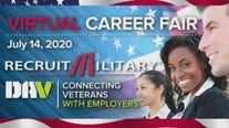 Virtual career fair for veterans