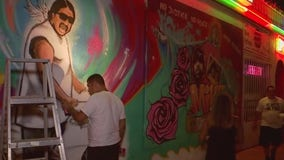 Group of artists create mural in honor of Mike Ramos