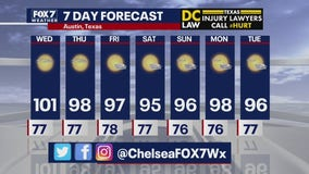 Evening weather forecast for July 14