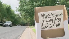 Round Rock mother and son helping keep people safe with handmade masks