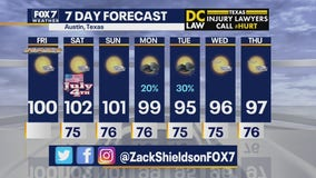 Noon weather forecast for July 3, 2020
