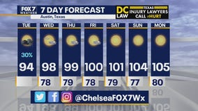 Noon weather forecast for July 7, 2020