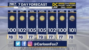 Noon weather forecast for July 10, 2020