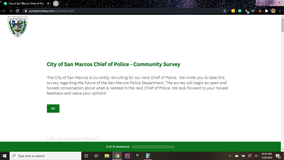 Public Survey: City of San Marcos asking for input during search for police chief