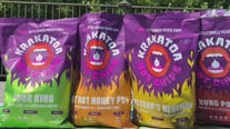 Spicy Austin-based 'Krakatoa' chips celebrating National Mustard Day