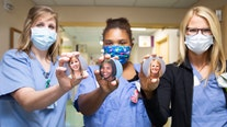 'Button Project' allows children to see the smiling faces behind the masks at children's hospitals
