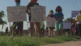 Round Rock ISD parents demand district reopens schools for in person instruction