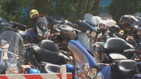 Motorcycle clubs show solidarity for Thin Blue Line LEMC members killed in crash