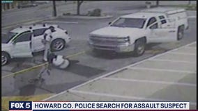 Video: Howard County Police searching for man who assaulted woman, struck her with vehicle before fleeing