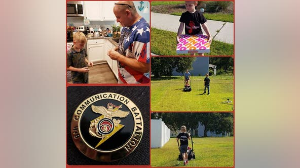 Fourth-grader who wants to be a Navy SEAL starts service by helping veterans