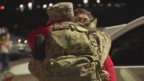 Soldiers reunite with loved ones in San Marcos