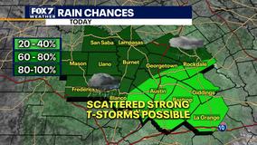Strong thunderstorms possible, slight flash flooding risk in Central Texas