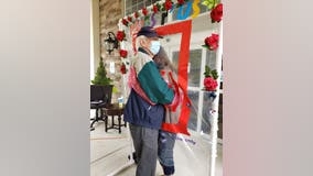 Hugging station reunites loved ones at Alpharetta assisted living facility