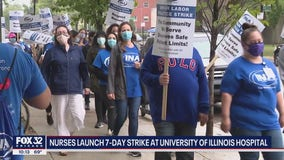 Over 800 nurses begin strike at Chicago hospital