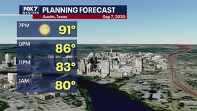 Evening weather forecast for 2020 Labor Day