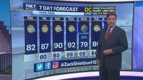 Noon weather forecast for September 24, 2020