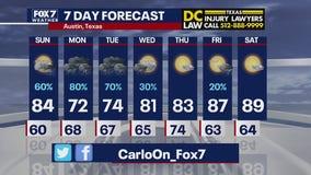 Evening weather forecast for September 19