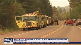 Volunteer firefighter says he was robbed of his wallet, pocket knife as he slept