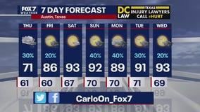 Evening weather forecast for September 9, 2020