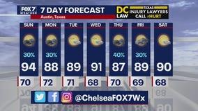 Evening weather forecast for September 12