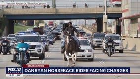 Man seen riding horse on Dan Ryan faces multiple charges